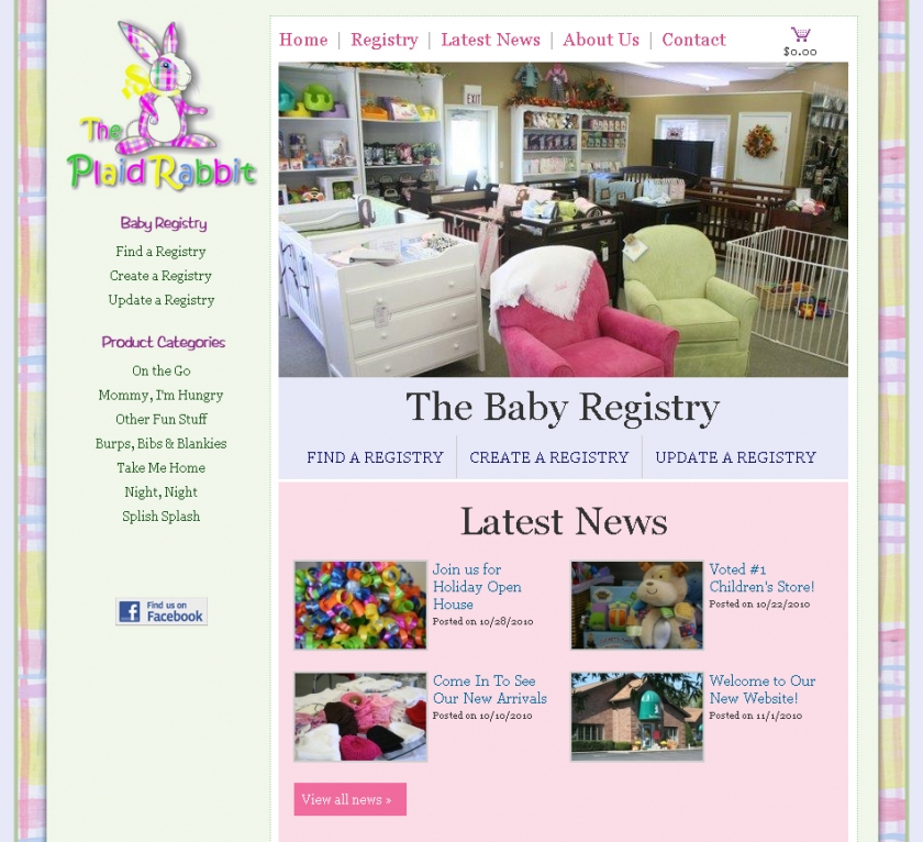 The Plaid Rabbit Baby Registry